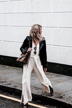 Street Style Jumpsuit and Jacket