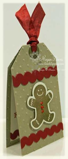 How to Make Ric Rac with Your Scallop Border Punch by Stampin Meg - Cards and Paper Crafts at Splitcoaststampers Christmas Paper Crafts, Noel Christmas, Christmas Gift Tags, Christmas Wrapping, Handmade Christmas, Holiday Cards, Handmade Gift Tags, Card Tags, Gift Cards