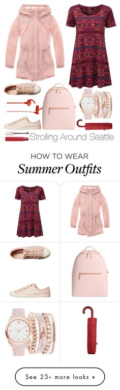 """""""Strolling Around Seattle #2"""" by ayiarundhati on Polyvore featuring Marc New York, Converse, MANGO, Sony, Ted Baker, A.X.N.Y., Maybelline, travelling, seattle and OutfitforTravel"""
