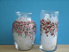 CHERRY BLOSSOM VASES set of two por RBEBERUS436 en Etsy