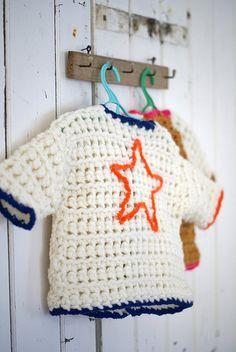 Blusinha de #crochê com estrela!