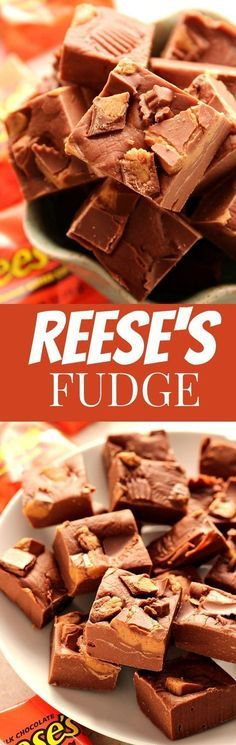 Reese's Peanut Butter Cups Fudge Recipe – a 3-ingredient last minute holiday fudge for chocolate and peanut butter lovers! Quick, easy and addicting! Make a small batch just for you or regular to share with friends and family!
