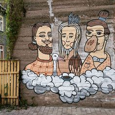 The seed eaters #mimiko #kairo #karlova #streetart #montana94 #Tartu #Estonianart #tänavakunst