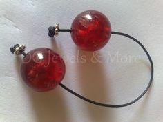 Begleri worry beads red cherry 20mm beads black cord hand game quit smoking
