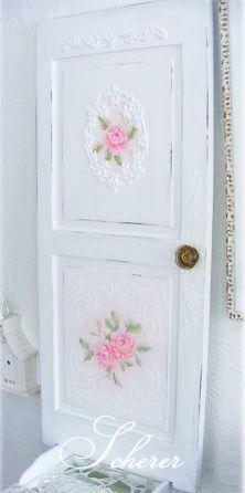 Rococo Rose Pink Painting Door