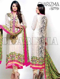 Charizma, charizma eid collection vol 2, eid collection 2014, girls casual dresses 2014, new eid arrivals 2014, stylish dresses, women wear