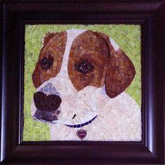Sadie the fox hound mosaic by www.creativearfs.com