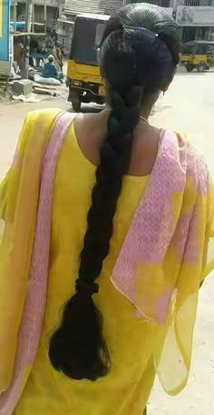 ℳanmathan November 24 2018 at Long Bob Hairstyles, Indian Hairstyles, Braided Hairstyles, Beautiful Braids, Beautiful Long Hair, Indian Long Hair Braid, Yellow Hair, Black Hair, Long Hair Video