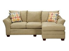 Omnia Green Chaise Sofa & Ottoman - Value City Furniture