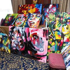 Throwback to 2012 :) at @artesania_bazaar  #artoftheday #art #artist #artwork #abstract #painting #portrait #colorful #creative #bazaar