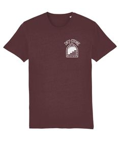 Tattoo T shirts : Swallow & Dagger - Burgundy  The swallow was such a potent symbol for sailors; a bird that could always find its way home however many miles it travelled.  The dagger through the swallow traditionally signified the loss of a comrade.  Material: 100% organic ringspun combed cotton.  Medium fit. Single jersey. Set-in sleeve. 1x1 rib at neck collar.  Inside back neck tape in self fabric.  Sleeve hem and bottom hem with wide double needle topstitch.  Weight: 180 gsm. Tattoo T Shirts, Sailors, Neck Collar, Swallow, Tape, Street Wear, Burgundy, Organic, Bird