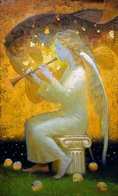 Angels by Victor Nizovtsev, painter of fables, fantasy, theatrical and imaginative art Victor Nizovtsev, Seraph Angel, Angel Images, Angel Art, Sacred Art, Christian Art, Religious Art, Ikon, Fantasy Art