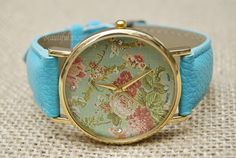 Floral WatchWomen & Man Wrist WatchVintage Style by BeautifulShow, $6.35 Fashion charm handmade personalized watches, best gift.