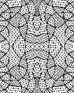 Kaleidoscopia coloring pages
