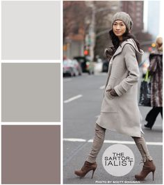 marvelous monotone. great example of color swatch collage