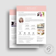 Blog Media Kit Template   Press Kit  Pitch Kit  Word Blog