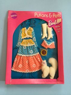 1971 KITTY KAPERS Barbie Put-ons and Pets Set #1062! In original box!