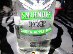 Green Apple Smirnoff Ice liquor drinks party alcohol liquor bottle smirnoff ice