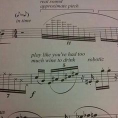I like how the composer has subverted traditional musical instructions, and has created humour through a relatable simile. I Love Music, Music Is Life, Instruments, Albums Bts, Band Problems, Flute Problems, It's Over Now, Music Jokes, Funny Music
