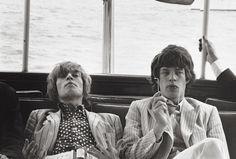 Brian Jones & Mick Jagger  Photo by Linda McCartney  1966