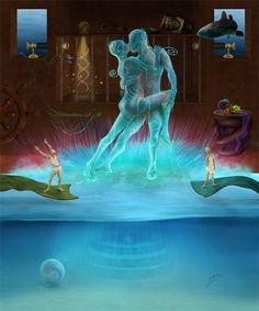 Surreal Painting: Primordial Tango | Sabina Nore