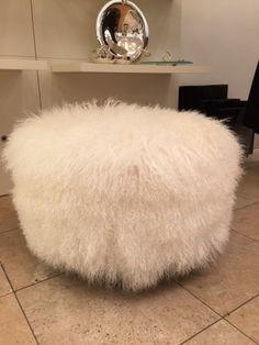 Tate corner big poof mongolian lamb 22' diameter