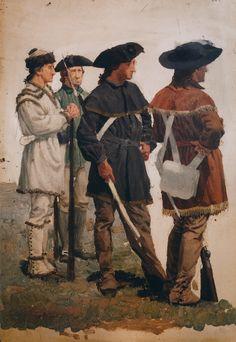 The Athenaeum - Colonial Hunting Shirt 'Uniforms' (William Trego - )