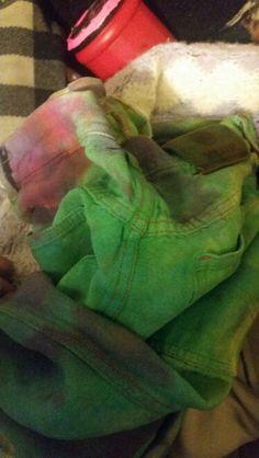 Hemp green & pink tyedye nfs