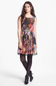 Digital Print Chiffon Fit & Flare Dress (Online Only) $178.00