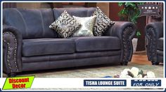 Tisha 3Piece Lounge Suite Corner Couch, Lounge Suites, Mattress, Hardwood, Sofa, Living Room, Furniture, Home Decor, Corner Sofa