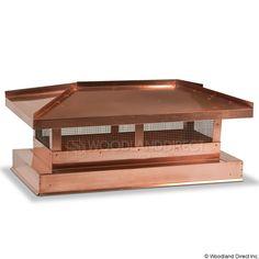 San Marino Copper Custom Chimney Cap From Woodland Direct