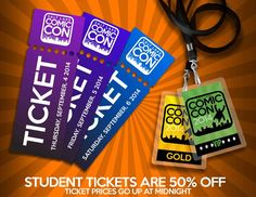 *PIN to WIN* Tickets go up again at MIDNIGHT (8/25/14). Save money by buying early. Student tickets are 50% OFF!