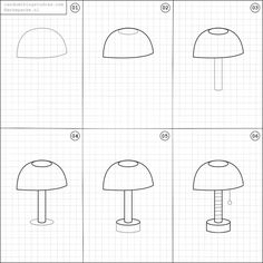 How to draw a lamp.