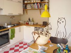 Animated: literally. Camilla Engman's home