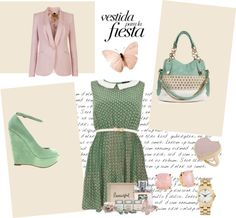 """""""Pink and Green"""" by alexandra-fodor ❤ liked on Polyvore"""
