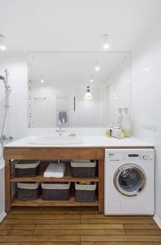 Small bathroom remodeling 787989266037922459 - Alternative Places for your Washer, Creative Ideas for Small Spaces Source by isambardbruno Small Bathroom Ideas On A Budget, Small Space Bathroom, Bathroom Layout, Bathroom Interior Design, Tiny Laundry Rooms, Tiny Bathrooms, Laundry Room Design, Laundry In Bathroom, Master Bathroom