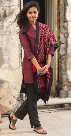 Kurta with Pants (Fabindia) Ethnic Fashion, Indian Fashion, Girl Fashion, Womens Fashion, Indian Attire, Indian Wear, Indian Dresses, Indian Outfits, Churidar