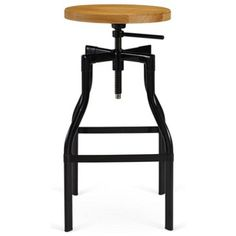 Check out this item at One Kings Lane! Elliot Stool, Black