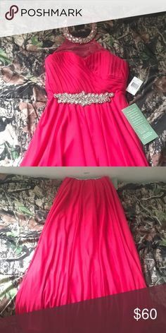 Pink Prom Dress Hot pink. Size 11 in juniors. Never worn. My Michelle Dresses Prom