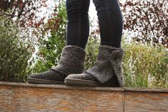 UGG Australia's heathered merino wool boots for women - the #Classic Cardy #SteppingintoComfort #Fall