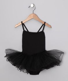 Take a look at this Black Skirted Leotard - Toddler & Girls by Seesaws & Slides on #zulily today!