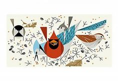 Bird Feeders by Charley Harper
