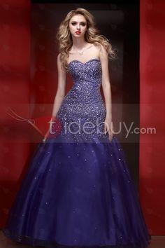 Elegant Sweetheart Floor-length Sequins Beading Prom/Ball Gown Dress : Tidebuy.com
