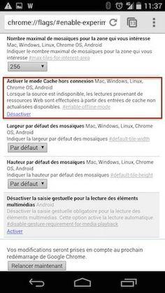 Accélérez Chrome sous Android