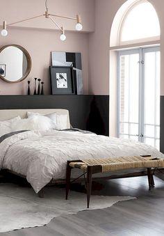35 Stunning Black Bedroom Color Schemes Ideas - Page 12 of 36 Best Bedroom Colors, Bedroom Color Schemes, Bedroom Wall Colour Ideas, Wall Colors For Bedroom, Bedroom Green, Bedroom Black, Master Bedroom, Black Bedrooms, Black Bedroom Furniture