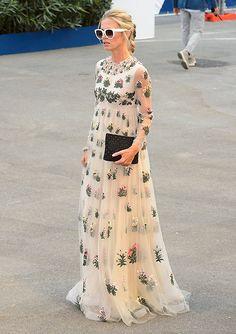 Laura Bailey, en el Festival de Venecia 2015 con un Valentino Pre Fall 2015