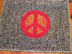 Peace Sign Rug Locker Hooking