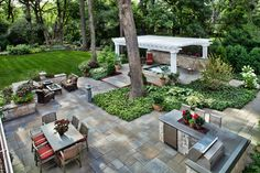 Hot tub and outdoor kitchen. Forever Home - traditional - patio - chicago - by Hursthouse Landscape Architects and Contractors