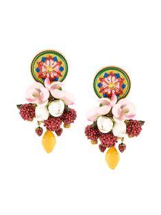 Dolce & Gabbana pendientes clip-on con adornos