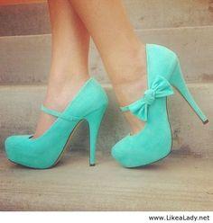 Tiffany Blue pumps